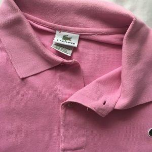 Men's light pink Lacoste polo